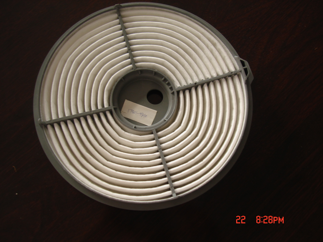Round air filter in China