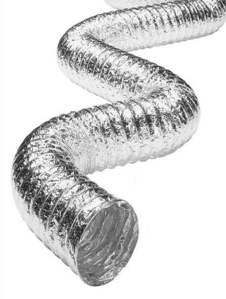 Aluminum Flexible Duct Uninsulated for HVAC