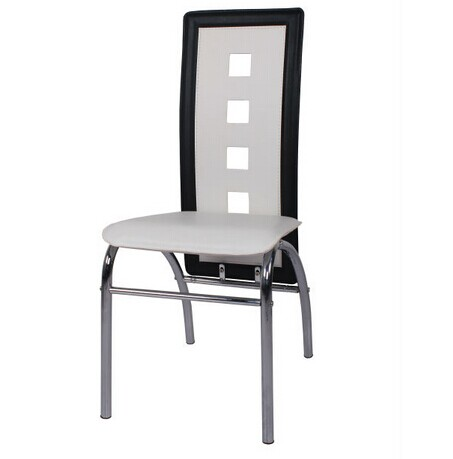 Dinning Chair with PVC Chromed Legs
