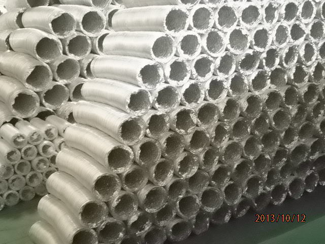 Semi rigid Aluminum flexible Ducting for HVAC Systems