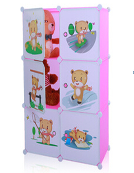 six cubes DIY plastic children toys storage cabinets for sales
