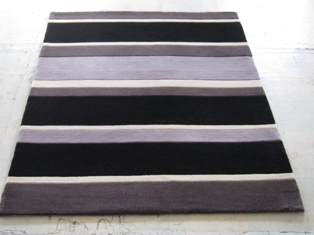 Hand Tufted Wool Carpets with Stripe Design and Good Quality