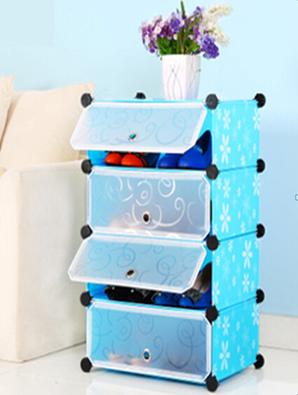 Fashion Style DIY PP Material Shoe Cabinet