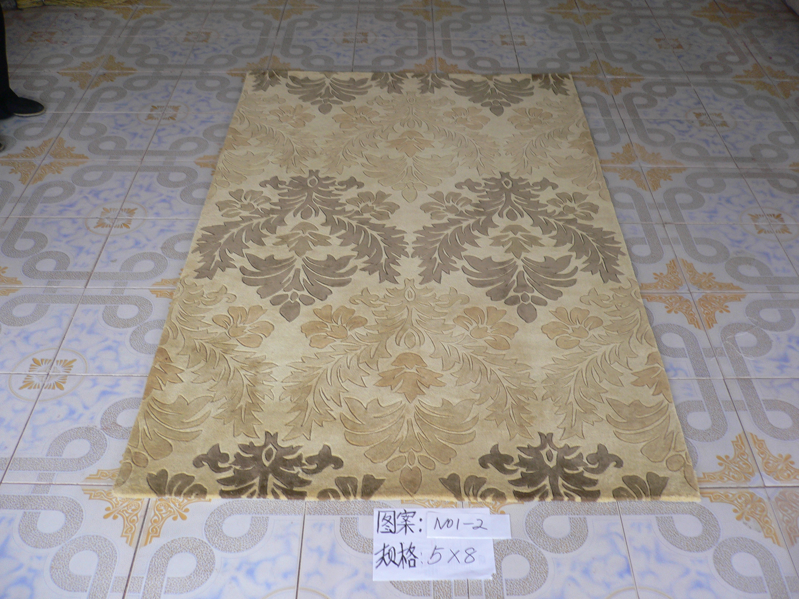 Wool Carpet and Rug Hand Loop from China Factory