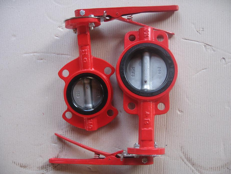 Ductile Iron wafe type butterfly valve