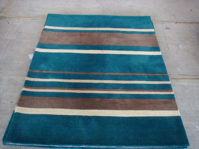 Stripe Blue Modern Carpet and Rugs