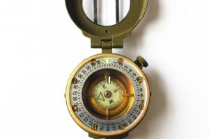 Army or military compass in aluminium material