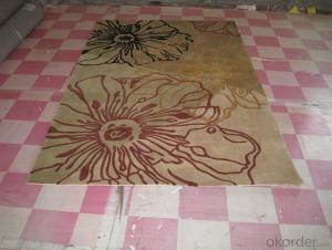 Flower Design Hand Tufted Floor Carpet