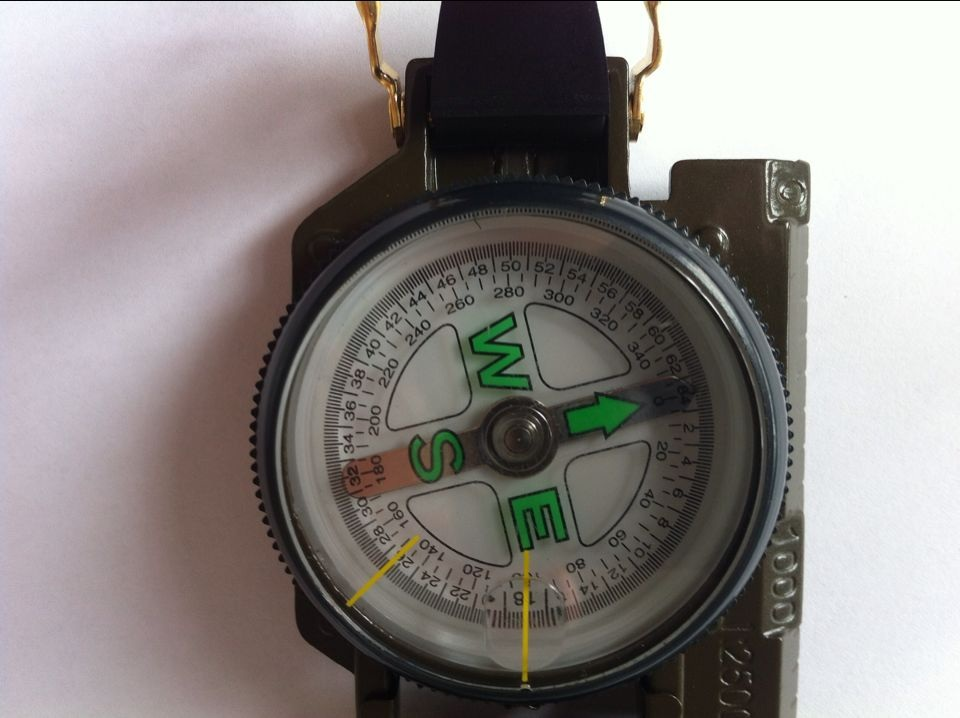 Rugged Army compass or military compass 45-2A