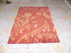 Red Popular Design Acrylic Hand Tufted Carpets