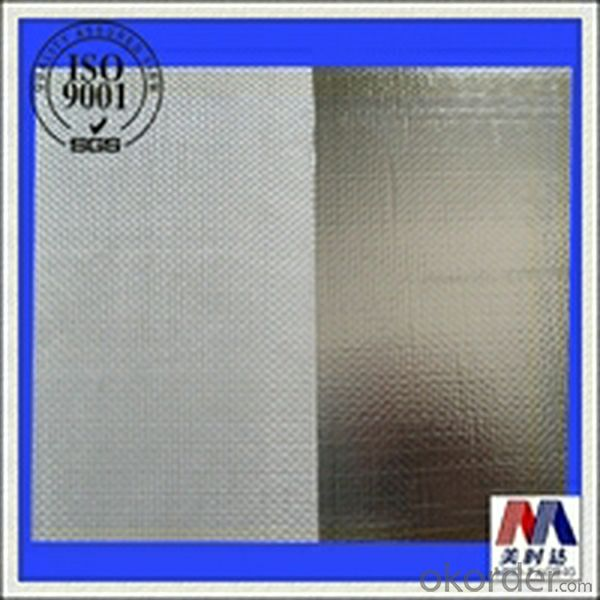 Aluminium foil laminated to giberglass cloth