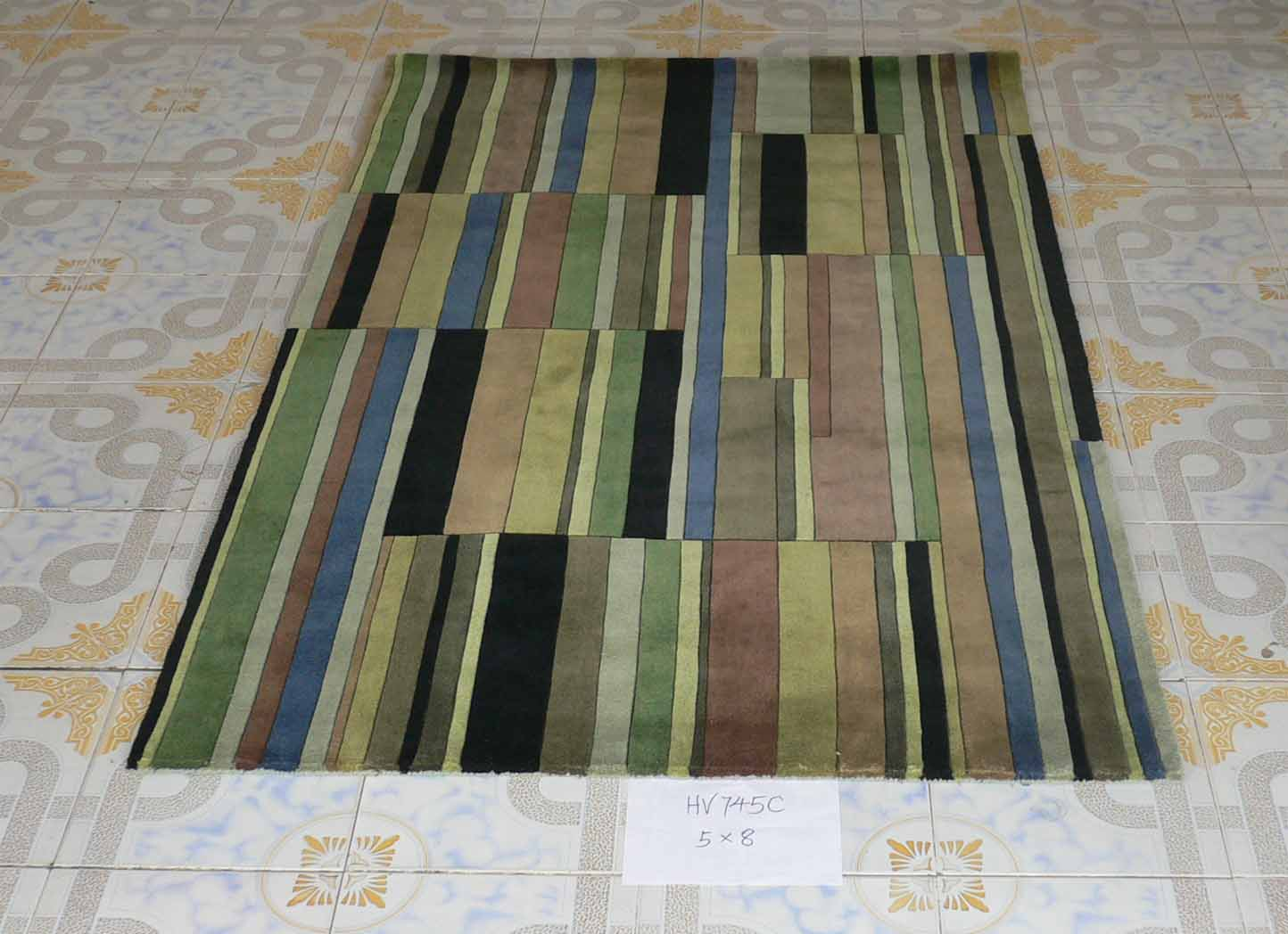 Stripe Design Polyester Area Rugs