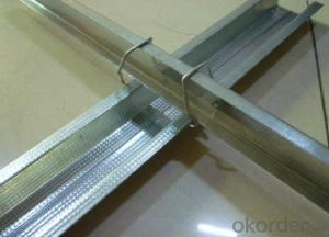Decorative Material Light Steel Keel For Mineral Fiber Board
