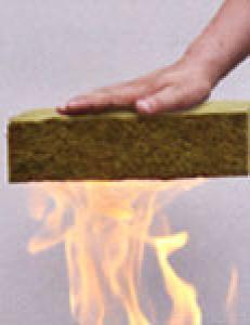 Fire proof absorption  rock wool board for insulation