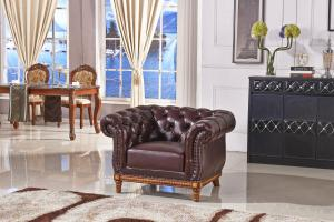 Classic chesterfield chair 3 seater  real imported leather