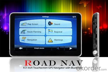 Road Nav - 4.3 Inch Touchscreen GPS Navigator with Bluetooth L304