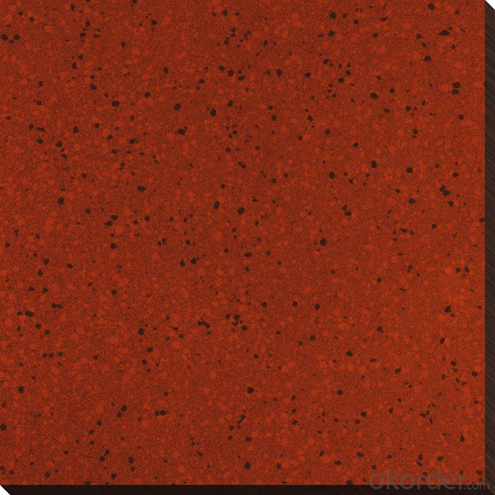 Red Color Polished Porcelain Tile from China