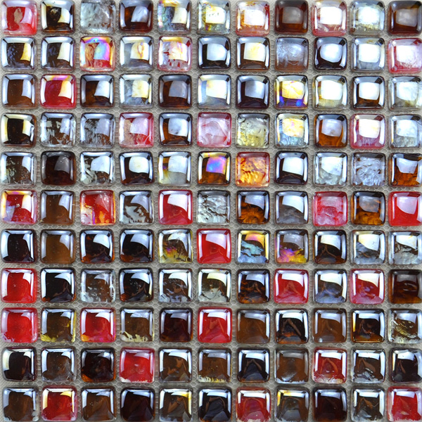 Glass Mosaic Tiles Hot Selling Cube Tile KC056