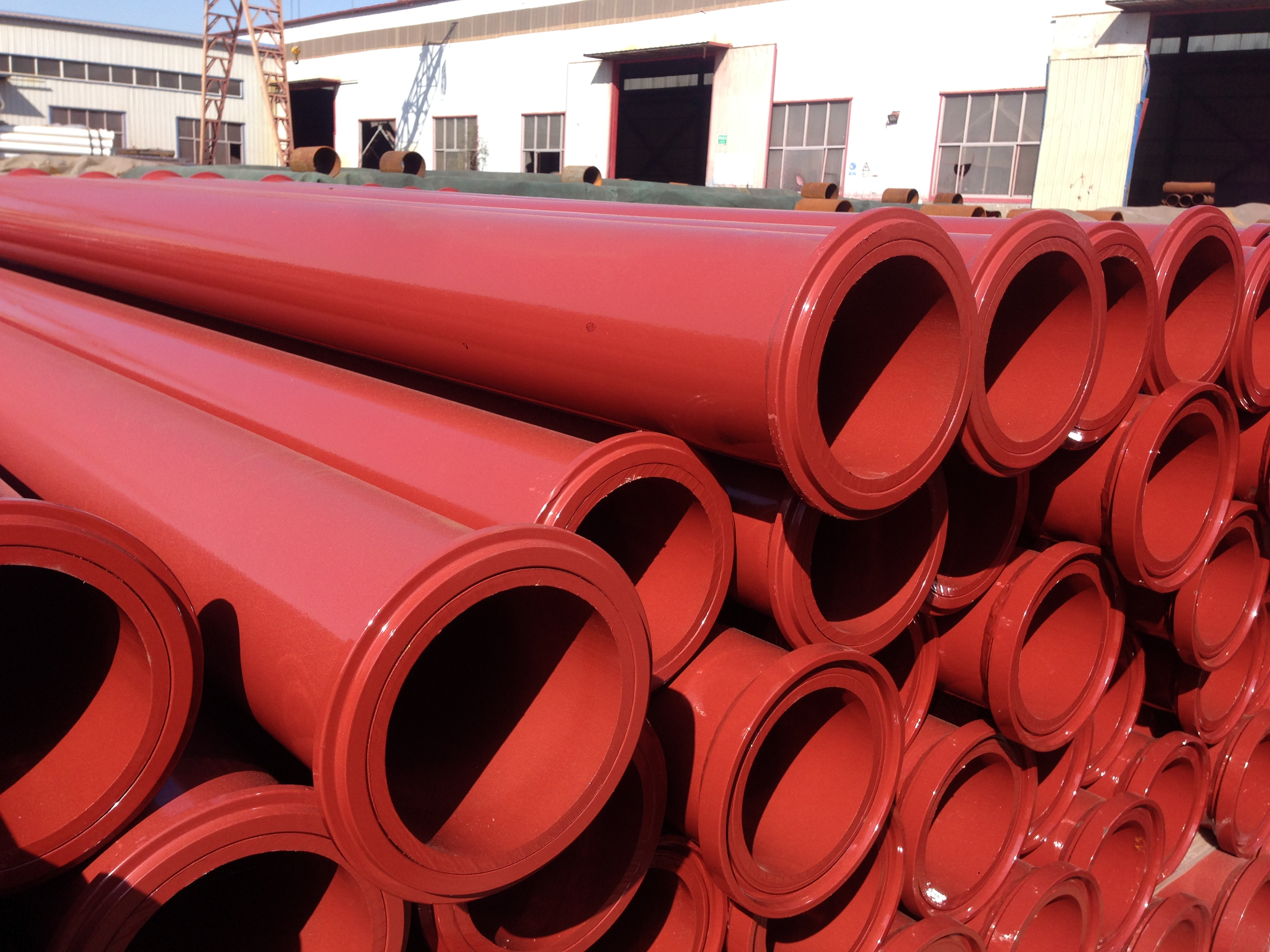 Three Meter Dn125 Delivery Pipe With ZX Flange 7.1mm st52