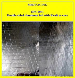 Doubld side Aluminium foil Scrim Kraft lamination sheet