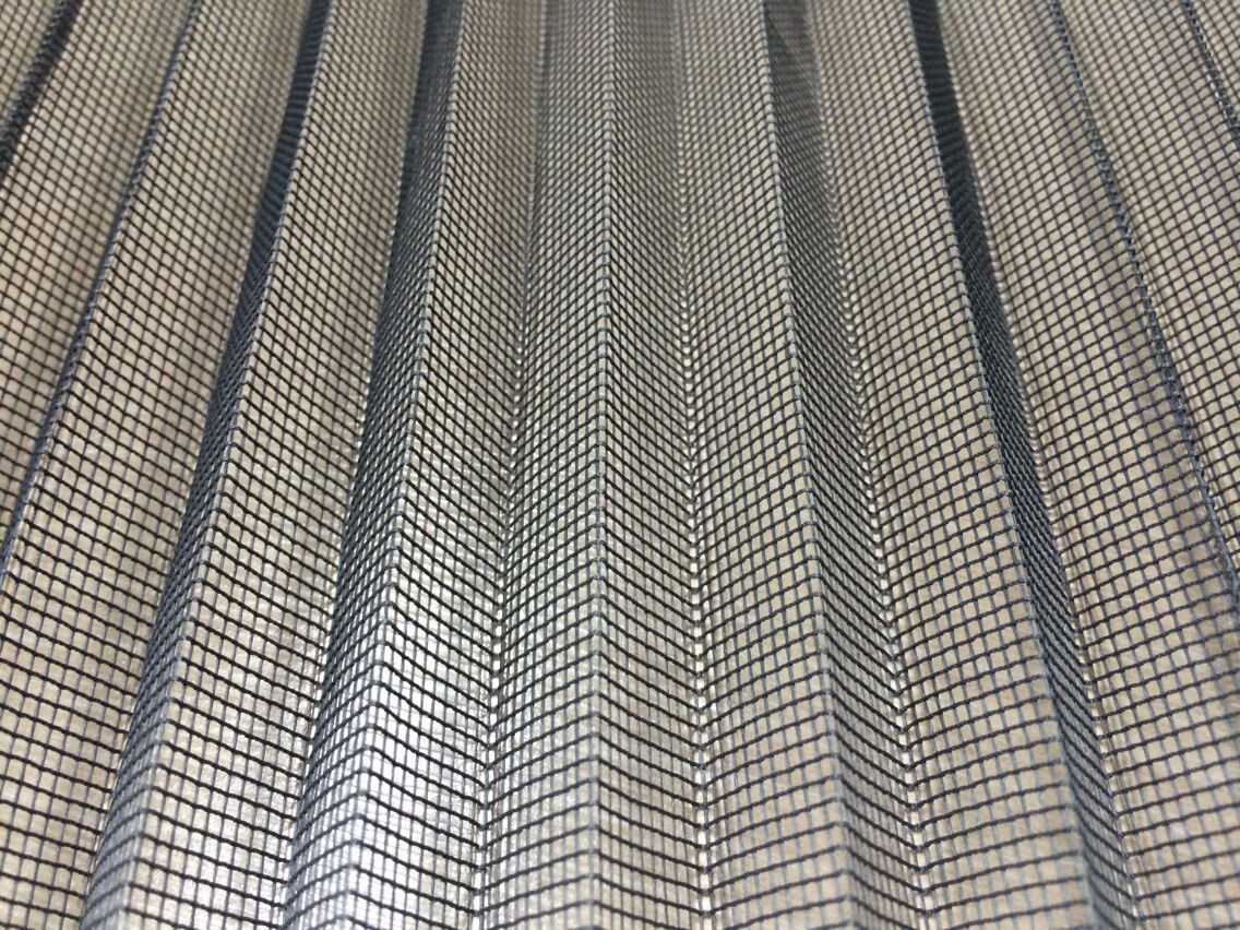 Polyester Plisse Pleated Insect Screen mesh