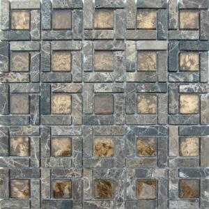 Glass mosaic mix marble MGR03