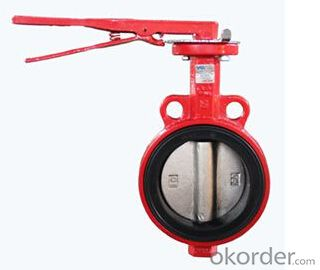 Slim Disc Wafer Butterfly Valve Cast Iron  Iron Material