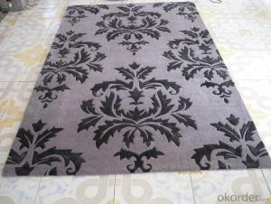 Grey Flower Shape Hand Tufted Floor Carets