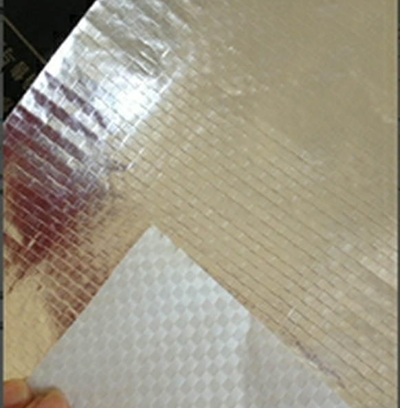 Single side aluminium foil laminated to PE wove fabric