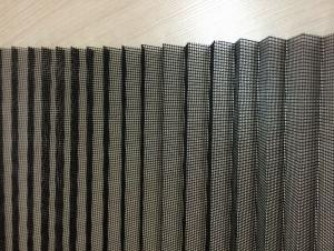 Black Pleated Insect Screen mesh