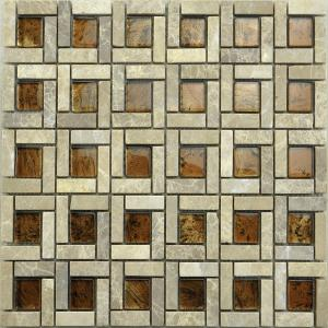 Glass mosaic mix marble MGR04
