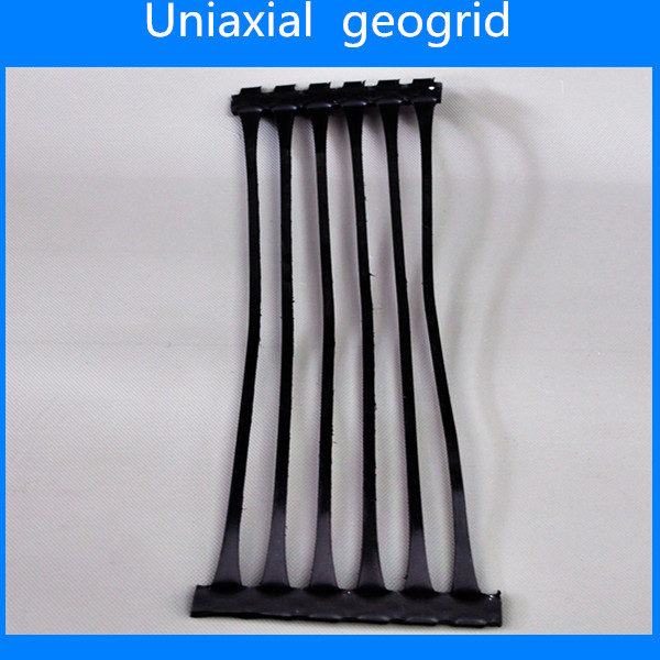 Unidirectional plastic geogrid