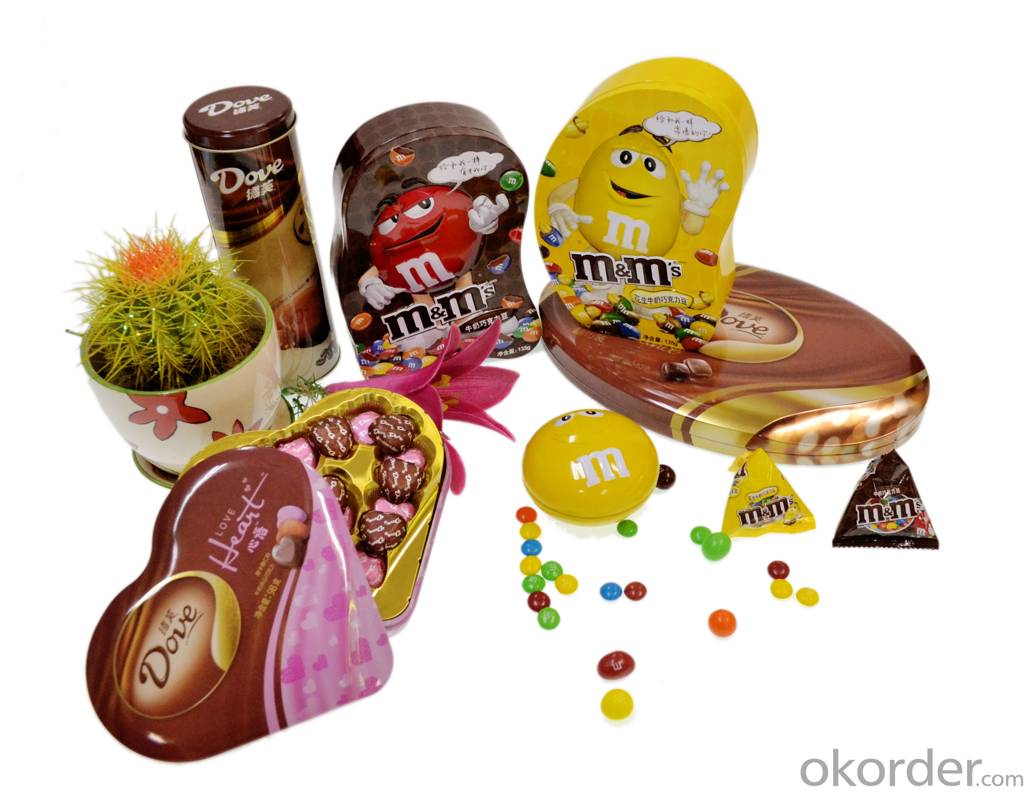Chocolate can, tinplate box, sweet tin can,packaging