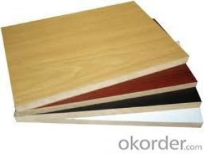 Melamine Paper Faced  MDF Board Wood Grain Color