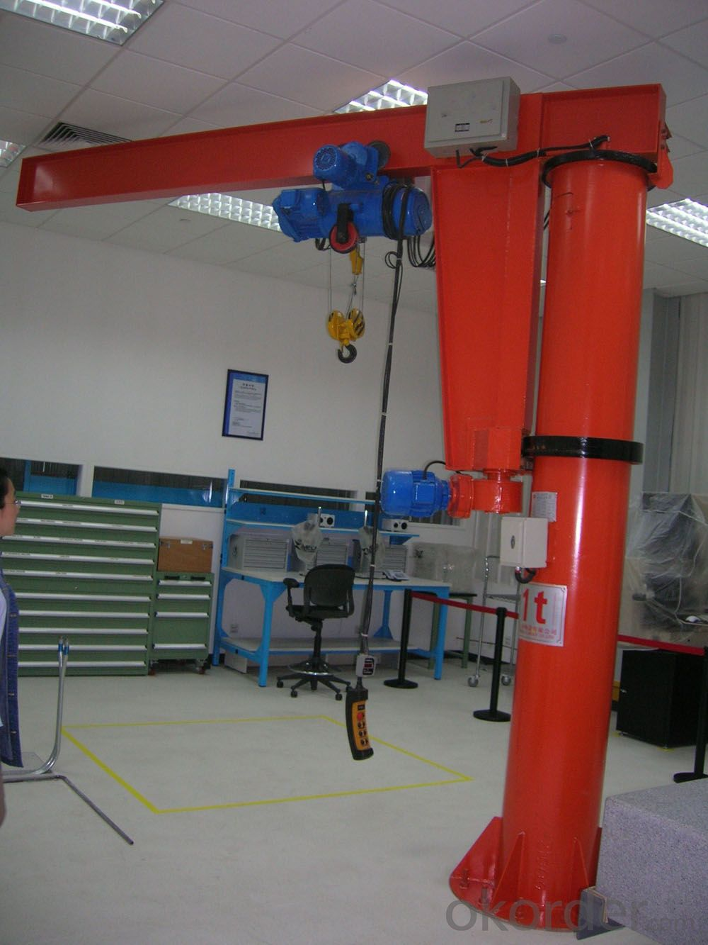 Top quality BZD type column swing jib crane