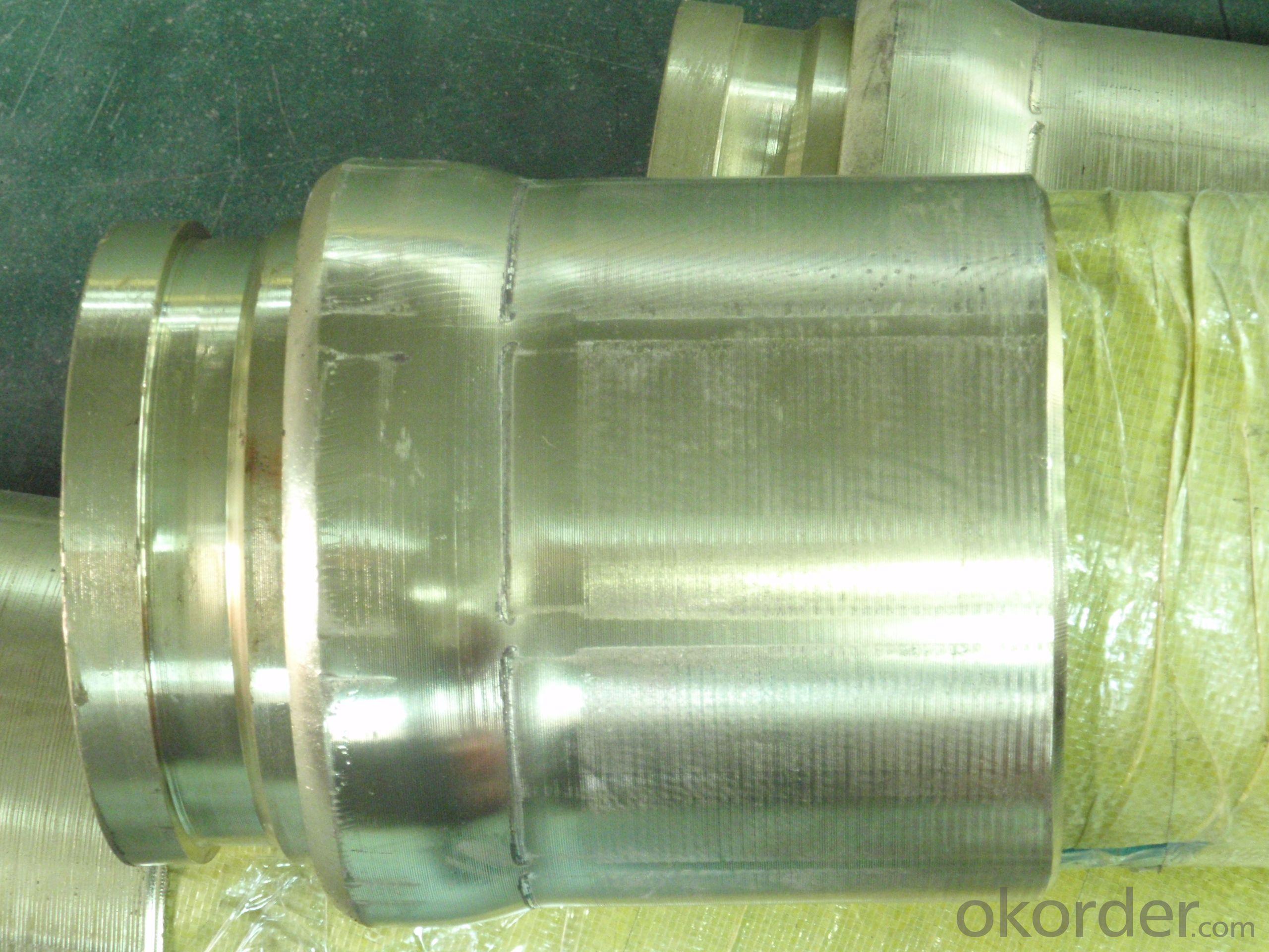 Concrete pump rubber end hose wiht coppering flange