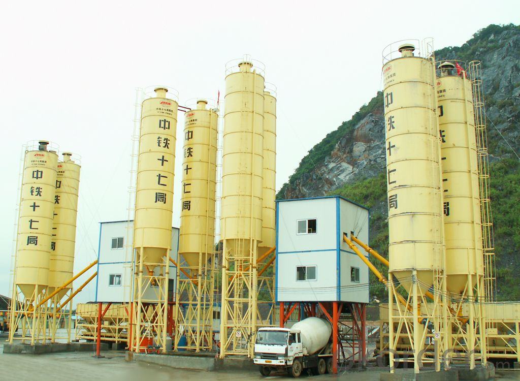 Famous brand concrete mixing plant for construction,production capacity is 75 cube meter per hour