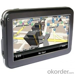 Five inch Car GPS Navigation with HD resolution touch screen and all countries maps