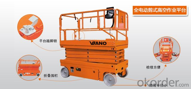 VBANO BRAND AUTOMATIC ELECTRICAL  SCISSOR TYPE WORKING PLATFORM