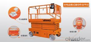VBANO BRAND ELECTRICAL SCISSOR TYPE WORKING PLATFORM