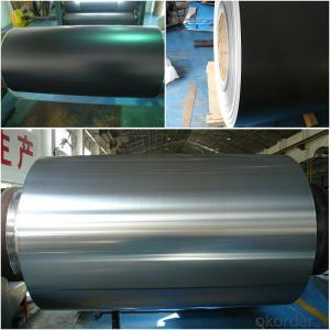 black color coated mill finish aluminum rolls
