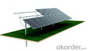Solar mounting system single pile manual system