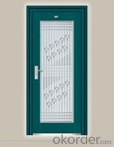 Galvanized fluorocarbon door