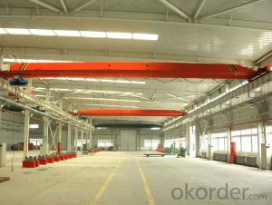 Single beam electric hoist bridge crane 3t