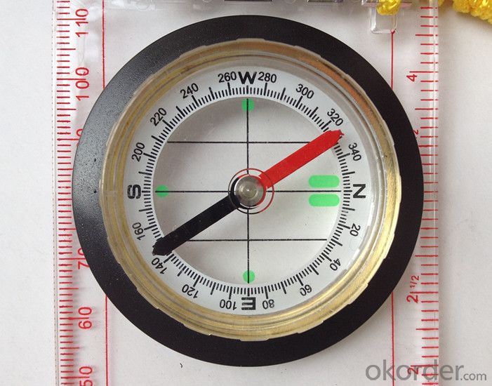 Transparant Map Scale Compass DC45-6