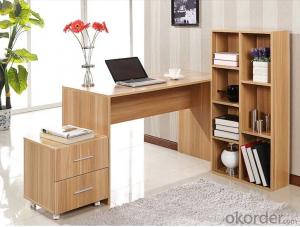 Computer desk with cabinet