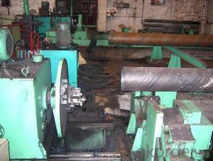 straight seam submerged arc welded pipe flat head chamfering machine