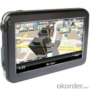 GPS navigation with 4.3 inch,bluetooth,av-in,FM and HD 800x480, all countries map