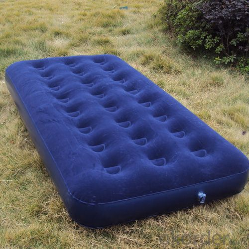 Inflatable twin size flocked air mattress