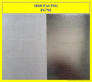 Aluminum Film Lined Fiberglass Plain Fabric
